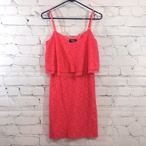 UEC Guess coral colored lace sundress size 4